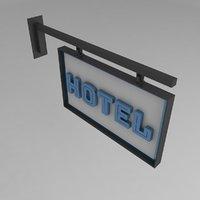 signboard nameplate 3D model