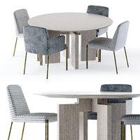 3D model ida table melange chair