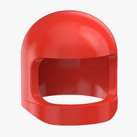 3D lego astronaut helmet 02