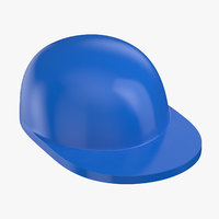 3D lego hat blue model