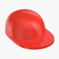 3D lego hat red