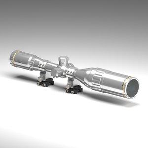 sniper scope 40x 3D model