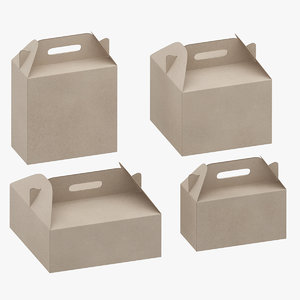 packaging boxes 3D model