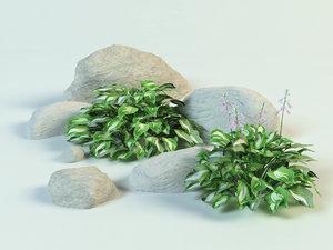 bush decoration 3D