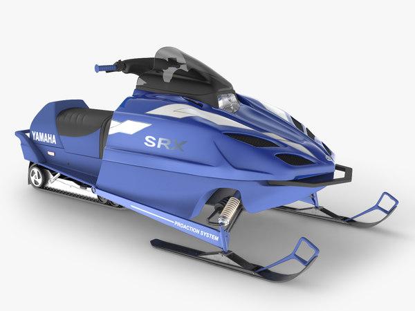 3D model snowmobile vehicle transport