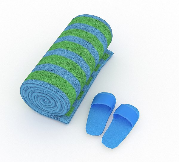 3D model towel 02