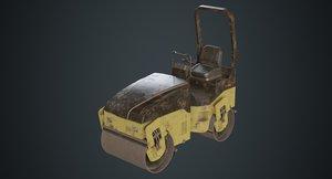 road roller 1b 3D model
