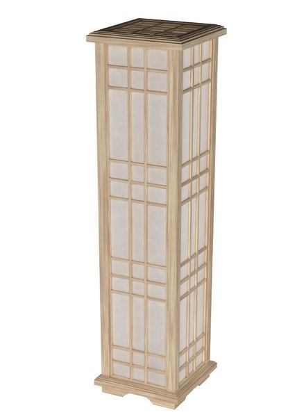 japan lamp mesh 3D