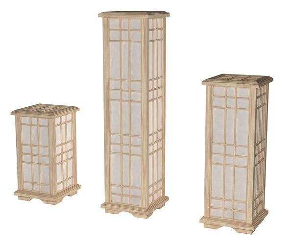 3D japan lamps