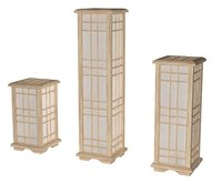 Three Japan Lamp Set