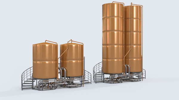brewery beer tanks 3D model