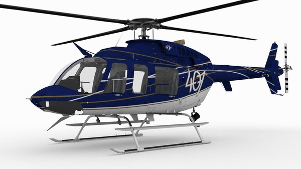 bell 407 helicopters 3D model