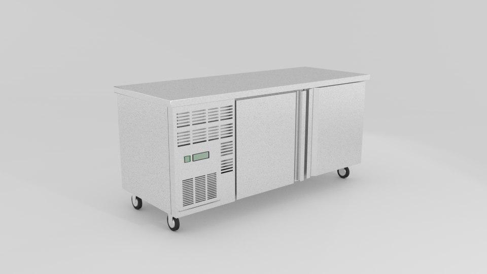 commercial kitchen bench 3D model
