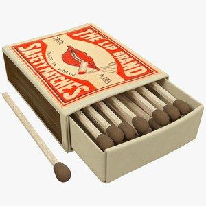 matchbox box match 3D model