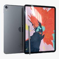 apple ipad pro11 silver 3D model