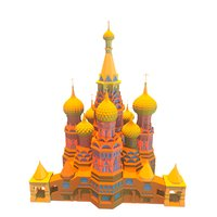 Russian Church Temple lowpoly