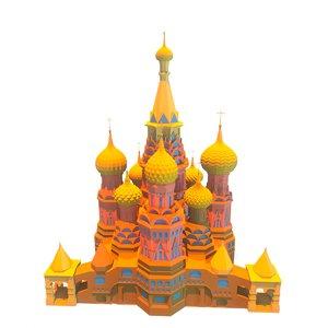 russian church temple model