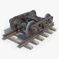 bogie 18-100 rusty 3D model