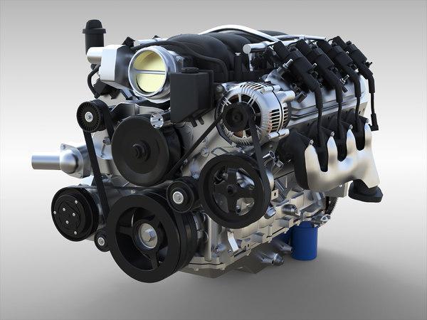 gm ls3 engine 3D