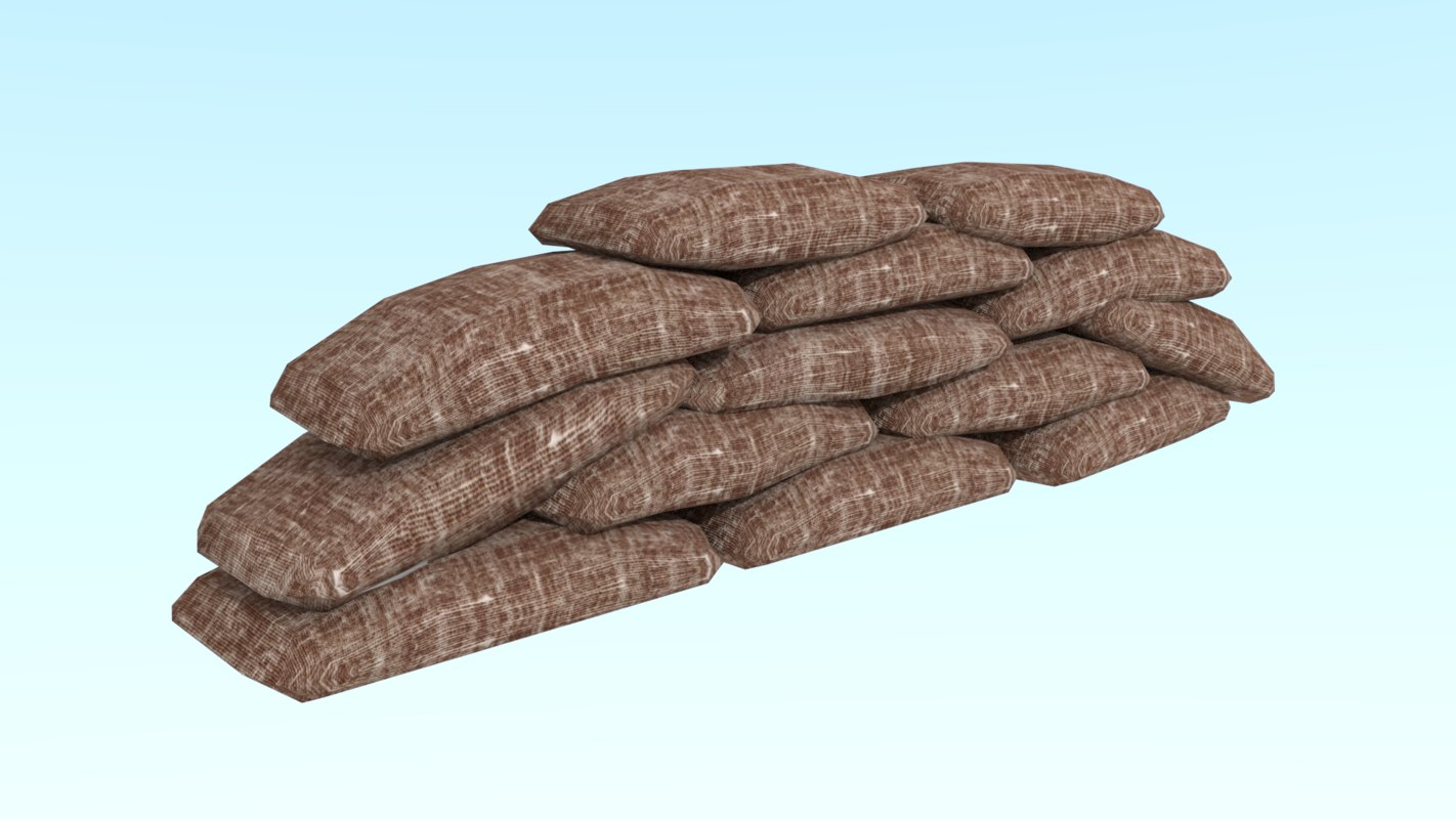 sandbag bag sand 3D