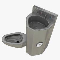realistic prison toilet sink model