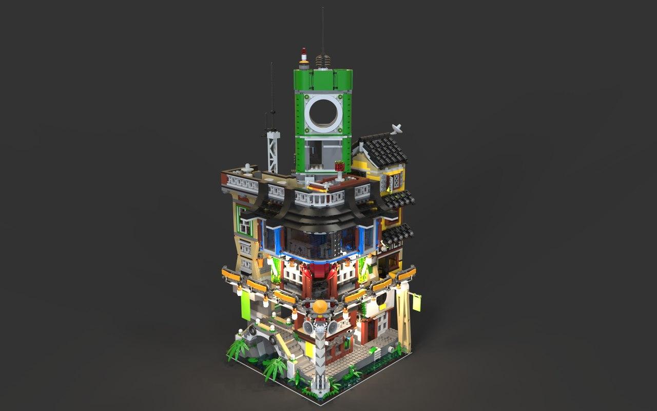 city ninjago lego model