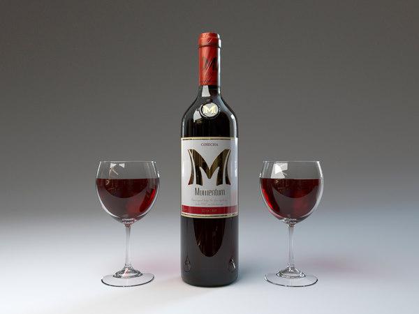 bottle glasses brand 3D model