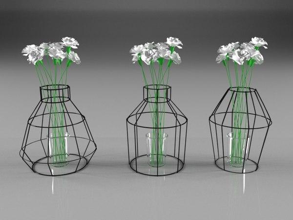 3D loft vase