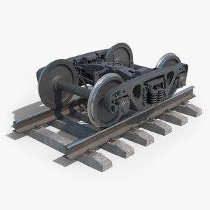 bogie 18-100 3D model