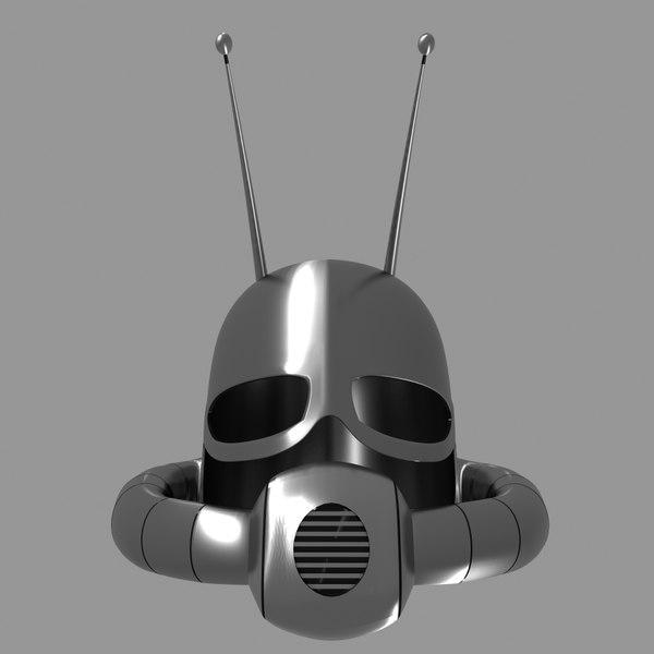 helmet classic 3D model