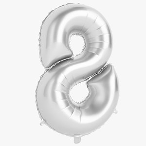 foil balloon digit 3D model