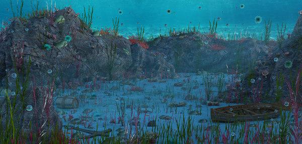 water underwater 3D model