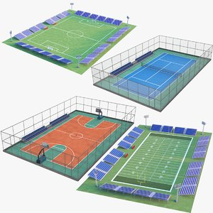 3D model sports courts