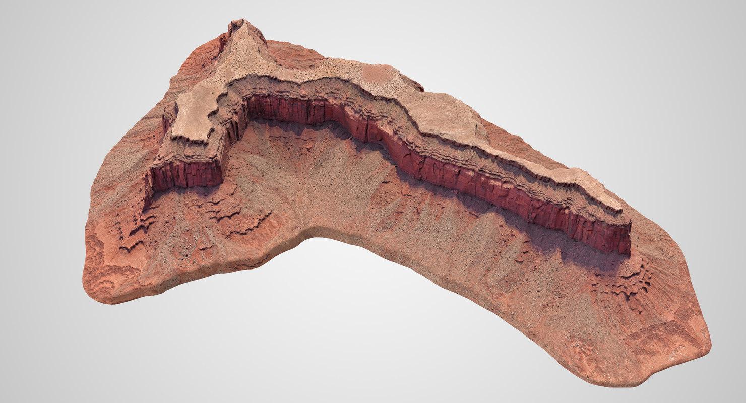 sandstone butte 10 3D model