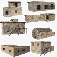 3D afghanistan buildings