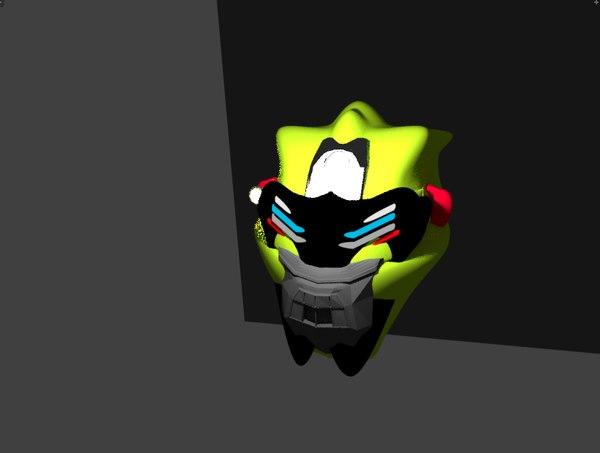 3D tactical helmet character model