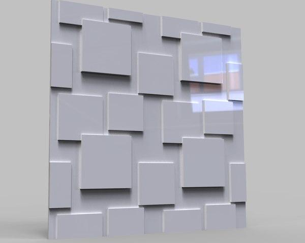 3D model decorative wall slabs