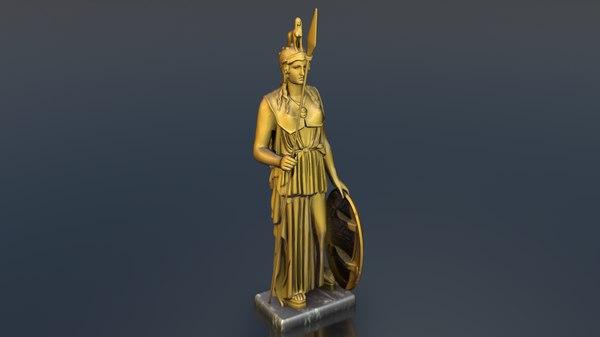 3D athena s statue