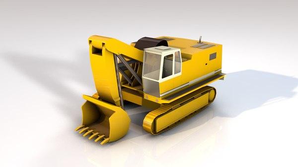 bulldozer construction equipment 3D