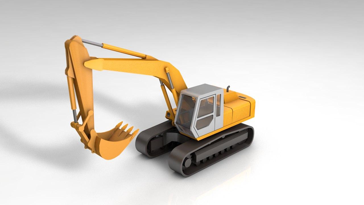 backhoe loader fh2000 3D