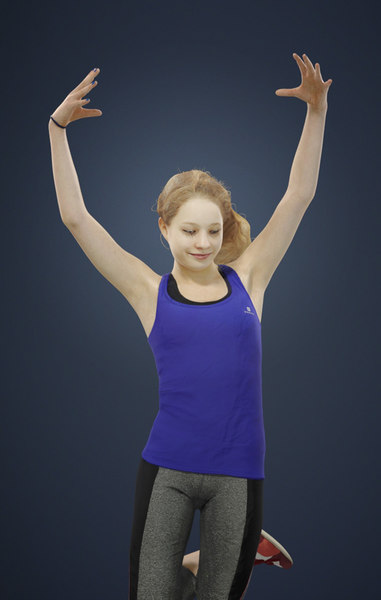 3D dancing ema teenage model