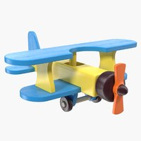 Wooden Aircraft Toy 3D Model