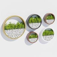 3D model wall planters