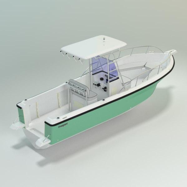 fisherman freeport 24cc boats 3D model