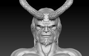 hellboy character 3D