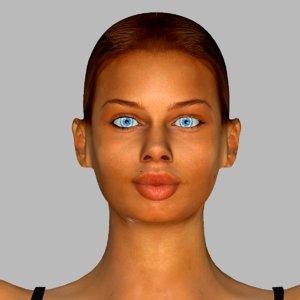 realistic female maria 3D model