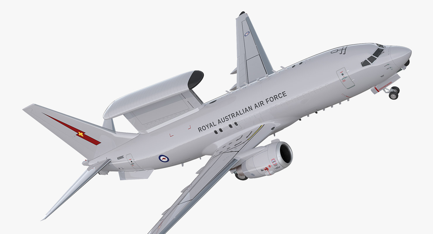 3D model boeing 737 wedgetail royal