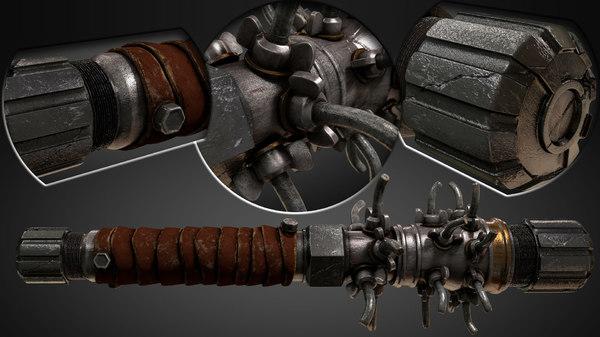3D model metal pipe