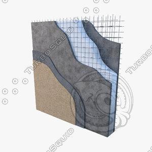 3D panel constructive eps concrete-detail