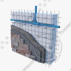 panel constructive eps concrete-detail 3D